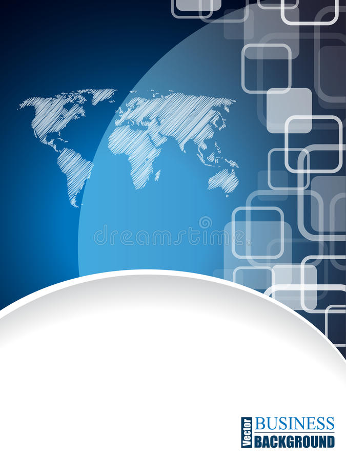 Brochure moderne d'affaires avec la carte griffonnée du monde illustration libre de droits