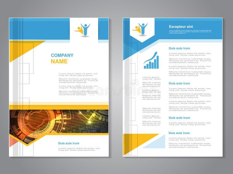 Brochure moderne de vecteur avec la conception de flèche, insecte abstrait avec le fond de technologie Calibre de disposition Aff illustration libre de droits