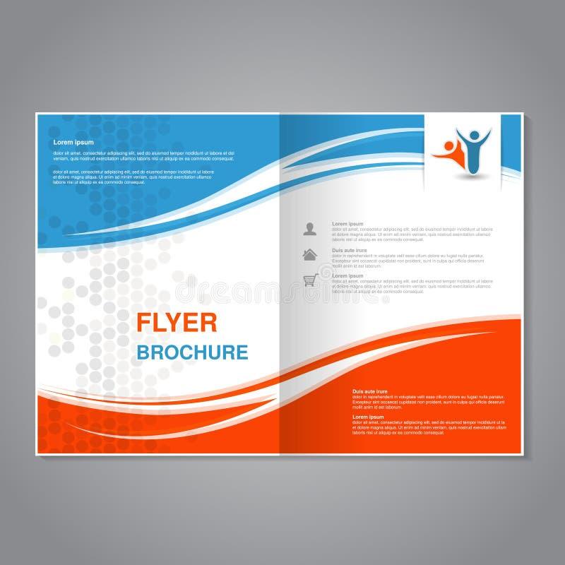 Brochure moderne, insecte abstrait avec la conception pointillée simple Calibre de disposition avec des vagues Allongement pour l illustration stock