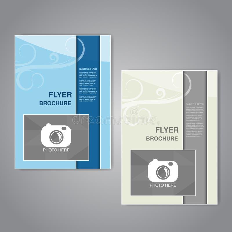 Brochure moderne, insecte abstrait ou conception de livre avec l'ornement simple, affiche, calibre de disposition pour votre phot illustration de vecteur