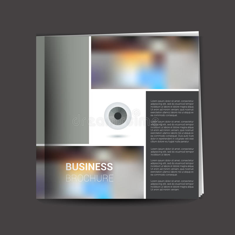 Brochure, newsletter, annual report layout template. Business background concept stock illustration