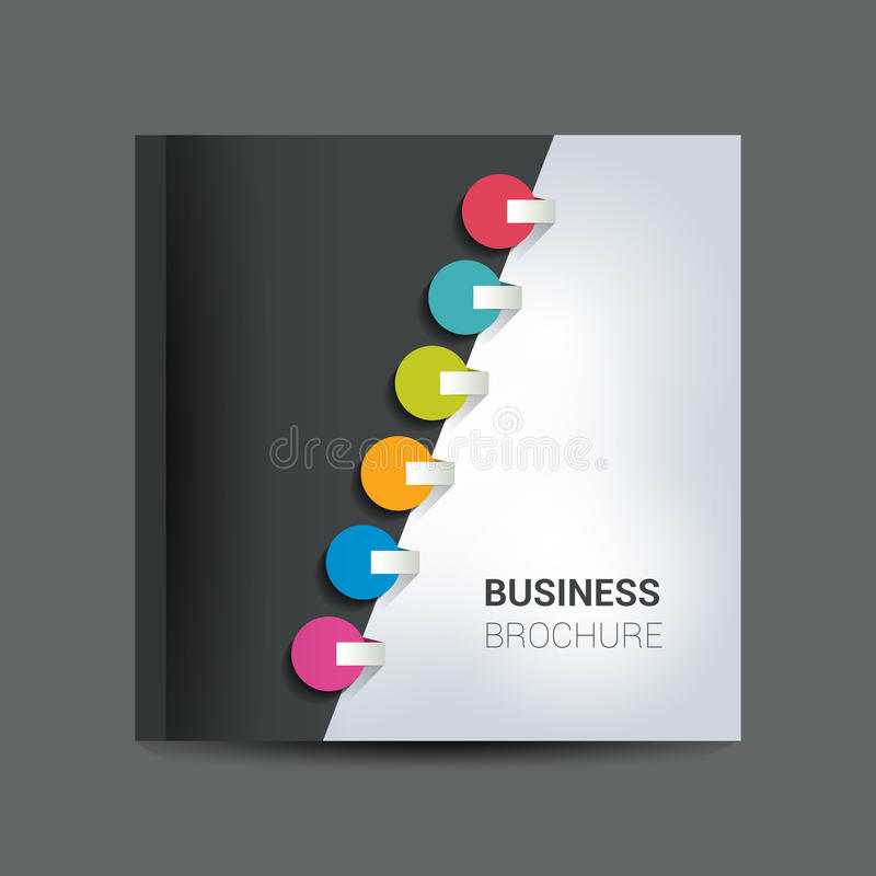Brochure, newsletter, annual report layout template. Business background concept vector illustration