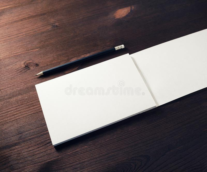 Brochure and pencil royalty free stock photography
