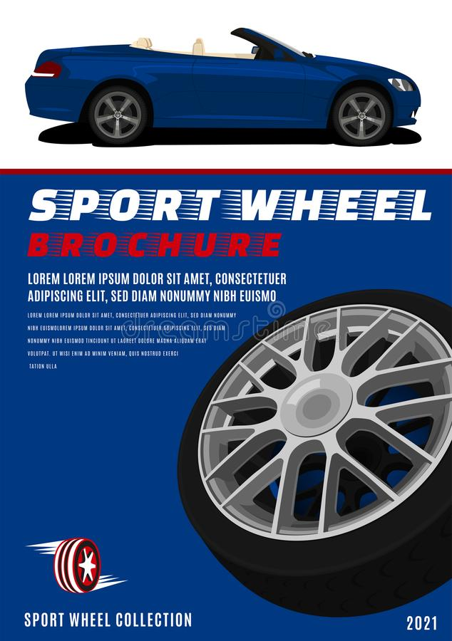 Brochure pneumatico sport fotografia stock libera da diritti