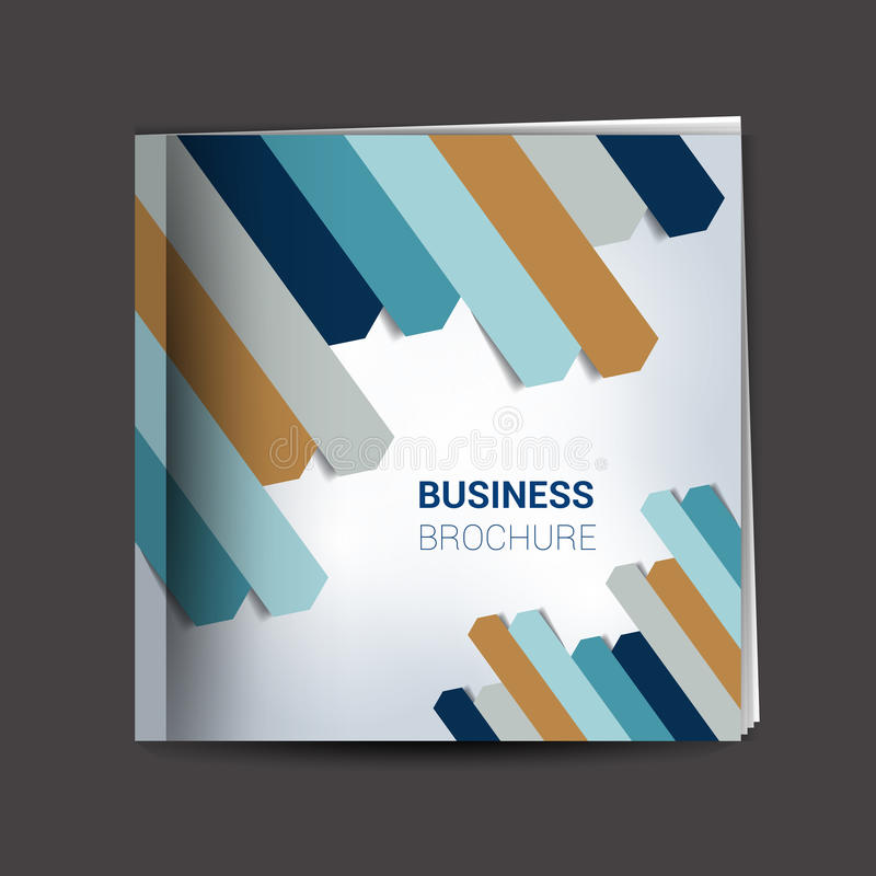 Brochure, report layout cover template. Info graphic royalty free illustration