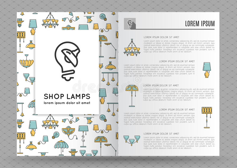 Brochure For Shop Lamps Lamp Icon Stock Vector Illustration Of
