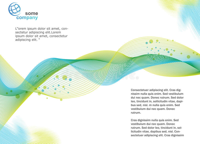 Brochure Template. Background, brochure template, great for print or presentation royalty free illustration