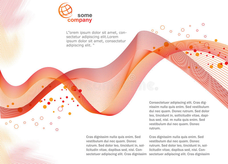 Brochure Template. Background, brochure template, great for print or presentation vector illustration