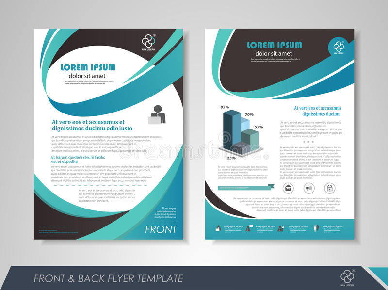 Brochure template design royalty free illustration
