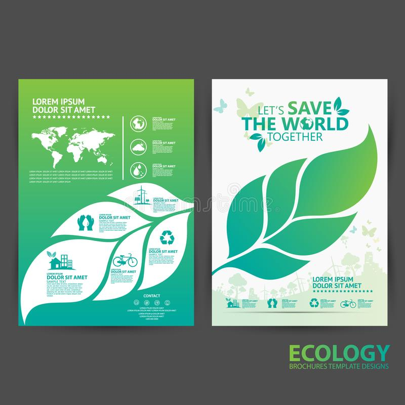 download brochure template environment concept lets save the world together stock vector