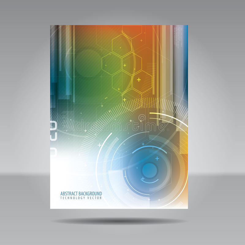 Free Brochure Template, Flyer, Card Or Banner Of Technology And Commu Royalty Free Stock Image - 51852226