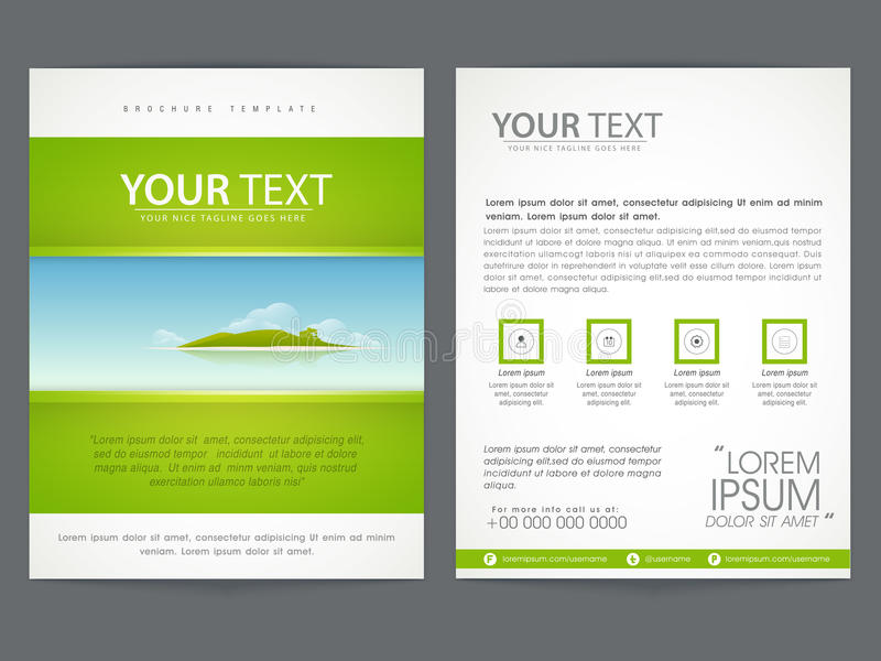 brochure template or flyer design for business stock illustration