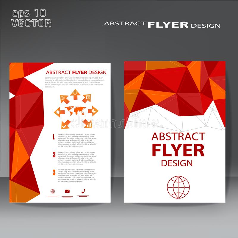 Brochure template flyer design for business purposes elegant lay royalty free illustration