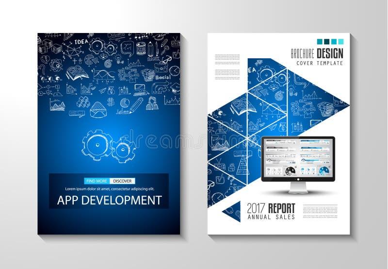 Brochure template, Flyer Design or Depliant Cove vector illustration