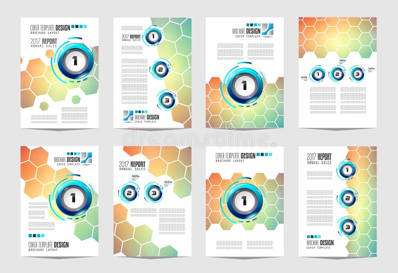Brochure template, Flyer Design or Depliant Cover for business p royalty free illustration