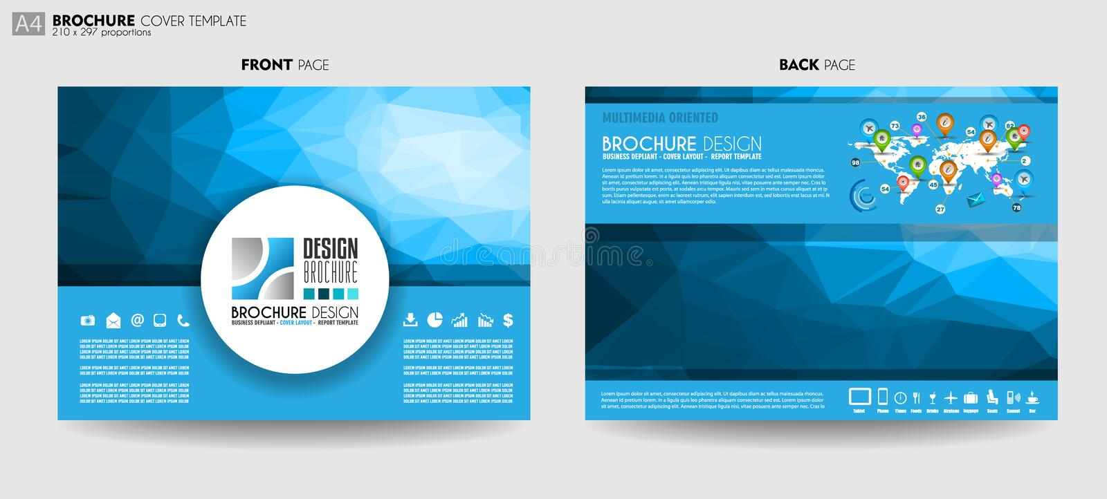 Brochure template, Flyer Design or Depliant Cover for business p vector illustration