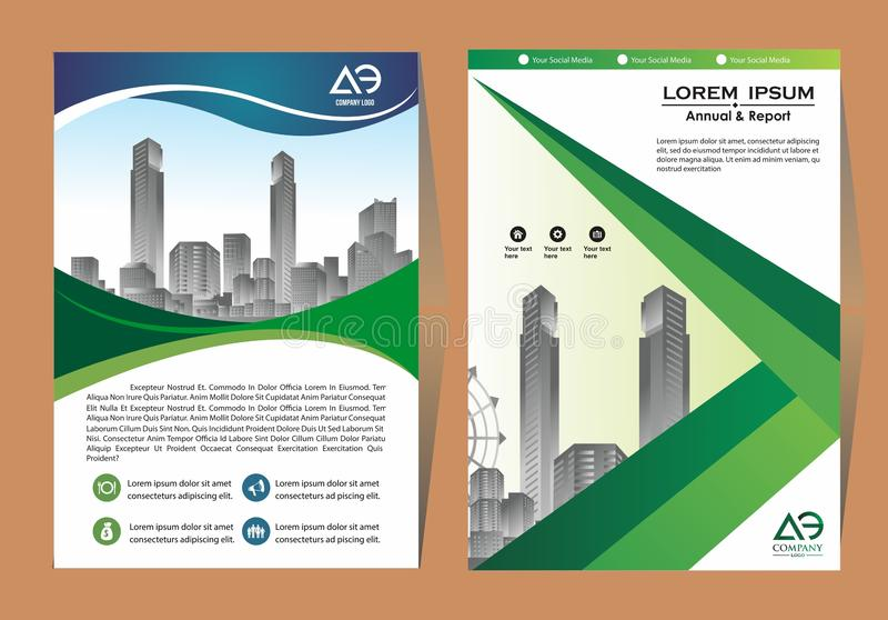 Brochure template layout, cover design annual report, magazine, flyer or booklet in A4 with blue geometric shapes on polygonal bac vector illustration