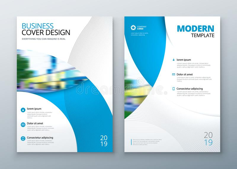 Brochure template layout design. Corporate business annual report, catalog, magazine, flyer mockup. Creative modern. Bright concept circle round shape stock illustration