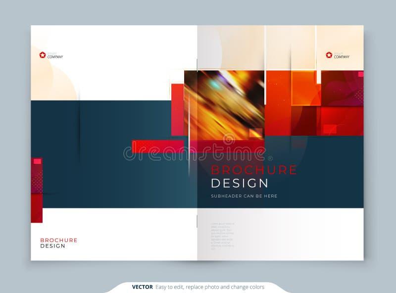 Brochure template layout design. Corporate business annual report, catalog, magazine, flyer mockup. Creative modern stock illustration