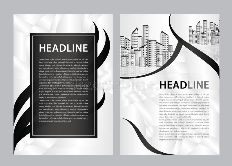 Brochure template vector, business flyer design, magazine layout a4, annual report, catalog, leaflet, booklet, graphic design stock illustration