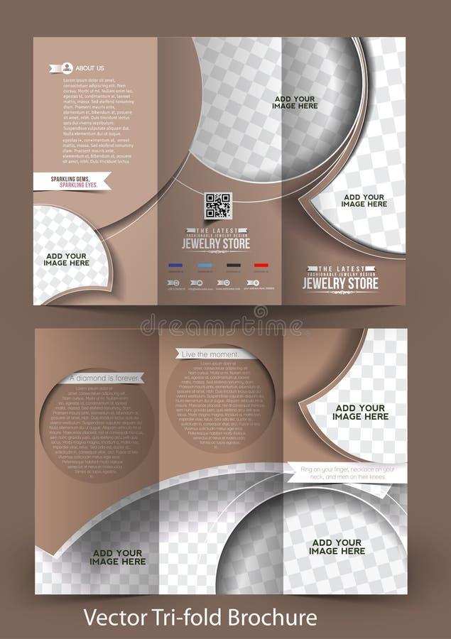 Brochure triple de magasin de bijoux illustration libre de droits