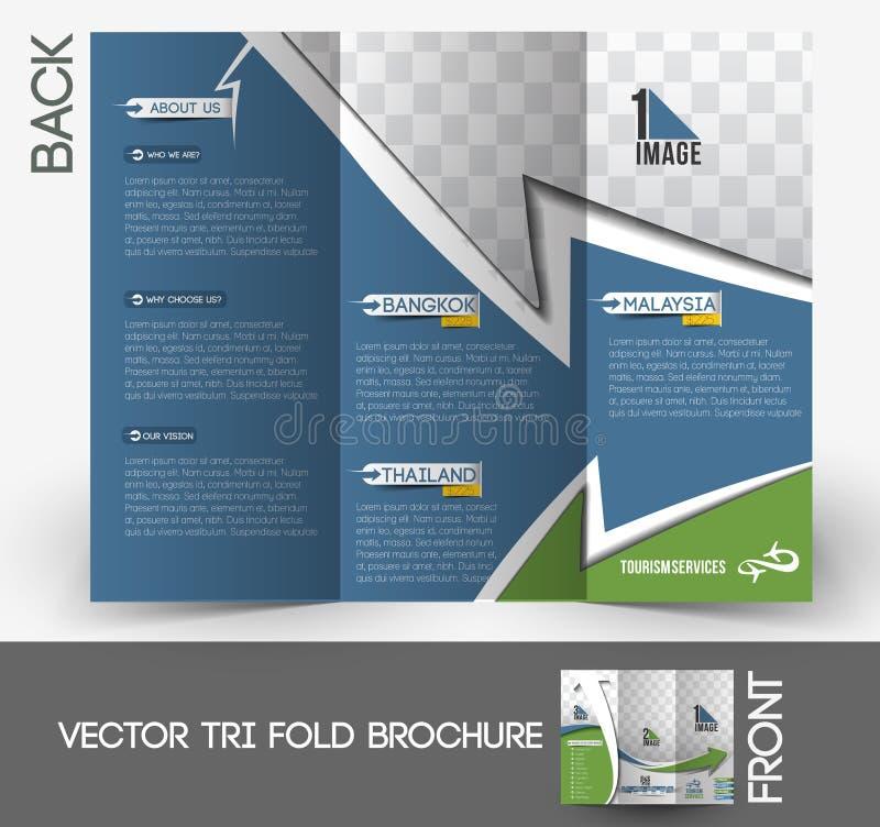 Brochure triple de Travel Service illustration de vecteur