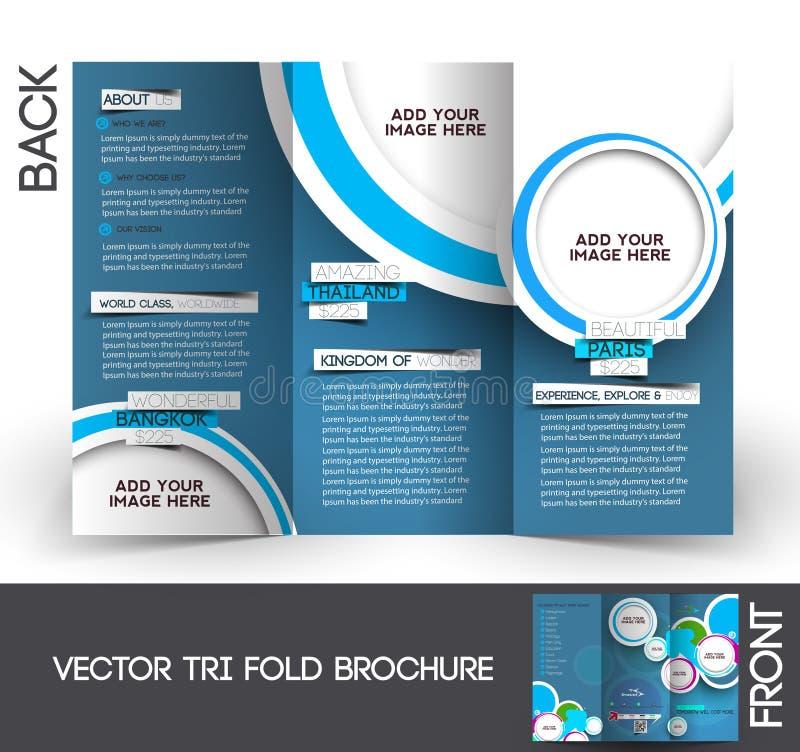 Brochure triple de voyage illustration stock