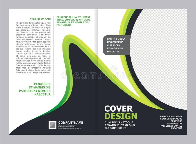 Brochure, Vlieger, het Ontwerp van het Dekkingsmalplaatje royalty-vrije illustratie