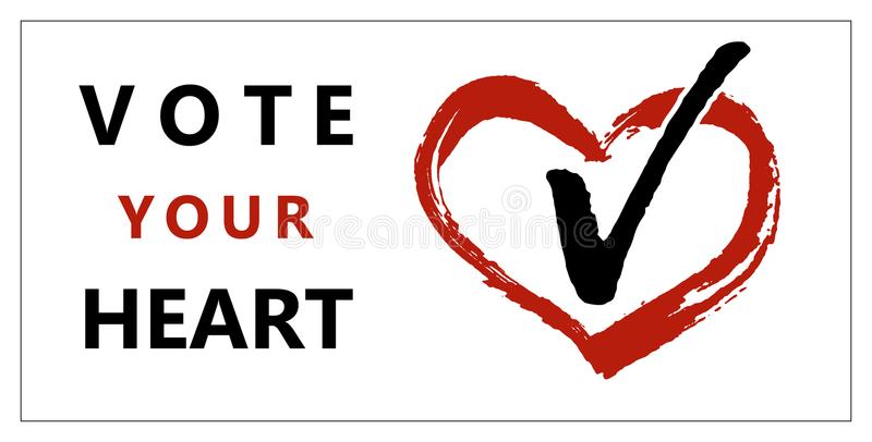 Brochure vote your heart stock illustration