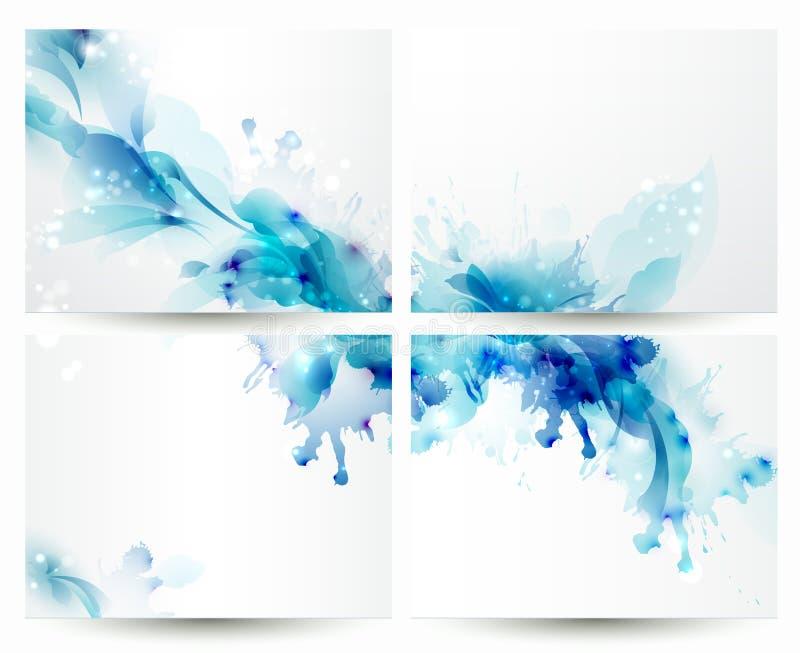 Brochureachtergronden stock illustratie