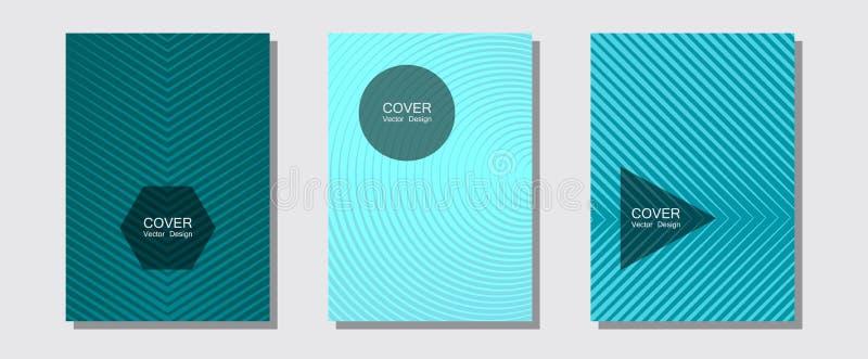 Brochuredekking, affiches, banners vectormalplaatjes vector illustratie