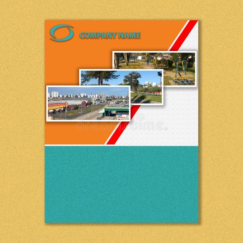 Brochuremalplaatje, boekdekking en rapportdekking modern en abstract stock illustratie