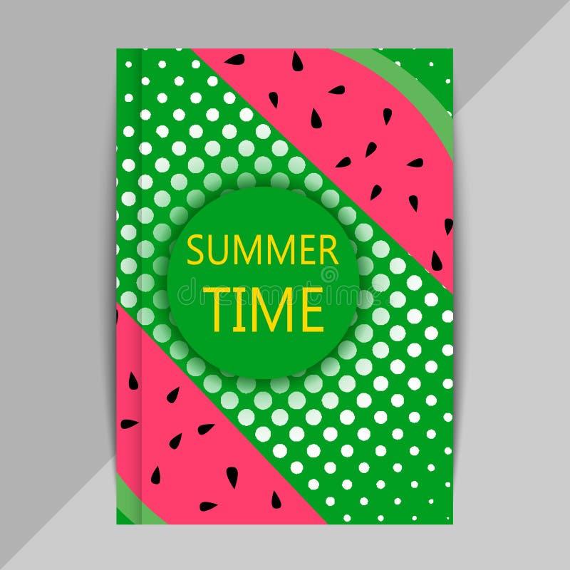 Brochureontwerp in de zomerstijl royalty-vrije illustratie