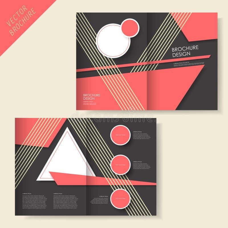 Brochureontwerp met streep en zwarte royalty-vrije illustratie