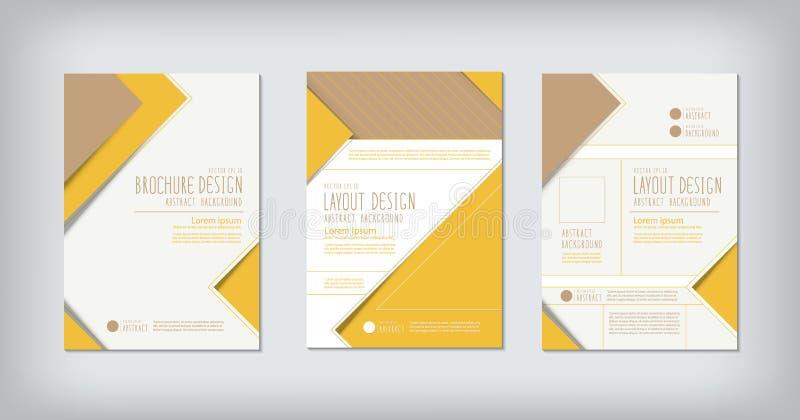 Brochures et vecteur de conception de l'avant-projet de zigzag de disposition illustration stock