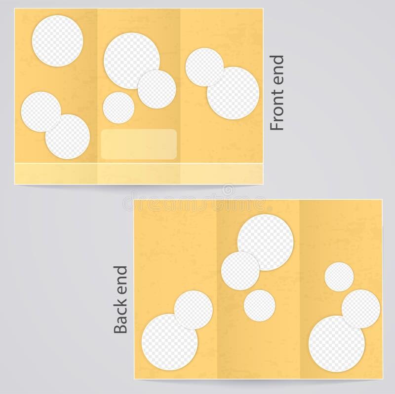 Brochures triples de disposition illustration de vecteur