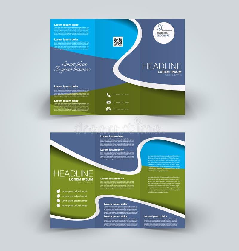 Brochurespot op ontwerpmalplaatje stock illustratie