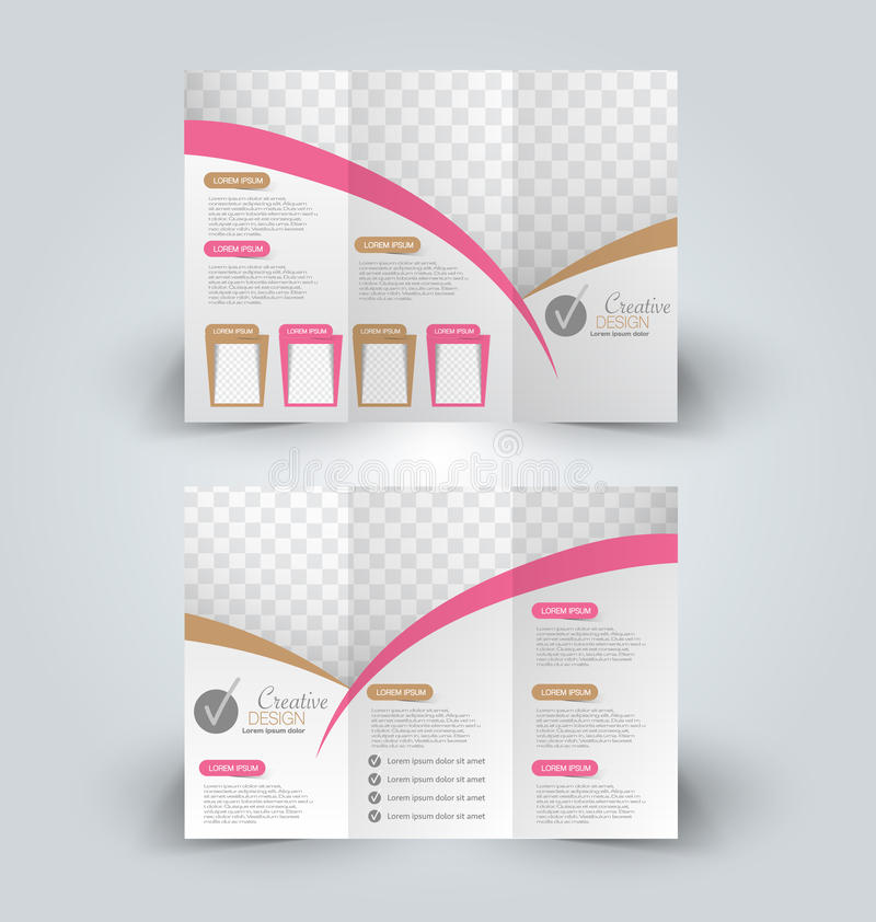 Brochurespot op ontwerpmalplaatje royalty-vrije illustratie