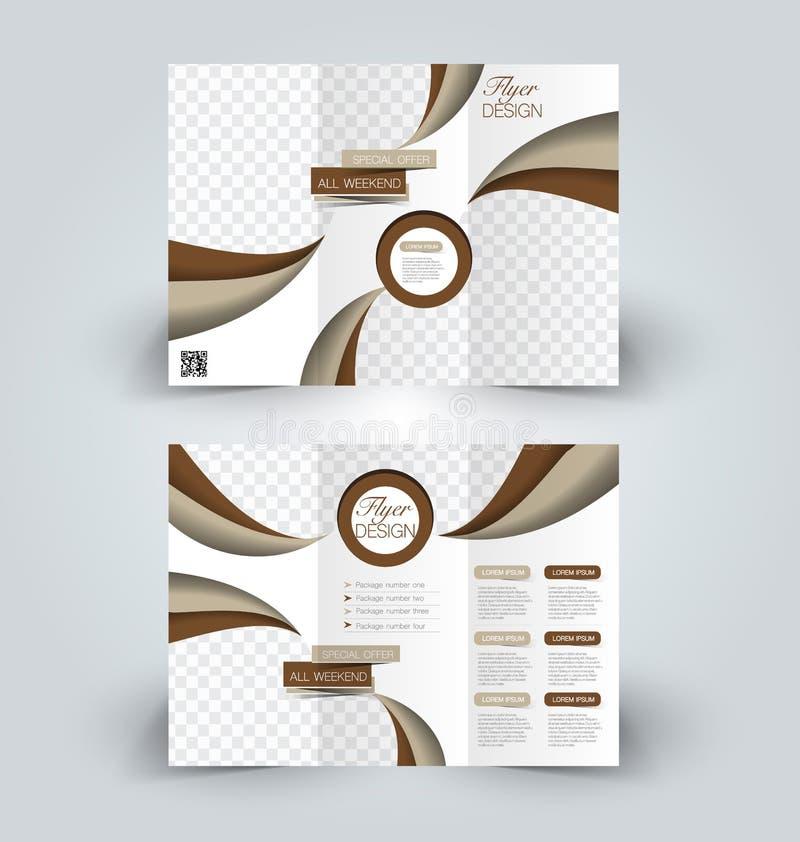 Brochurespot op ontwerpmalplaatje voor zaken vector illustratie