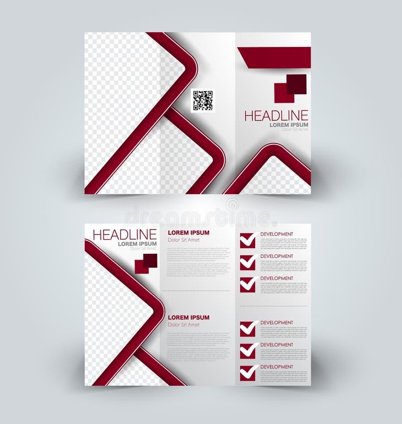 Brochurespot op ontwerpmalplaatje voor zaken, onderwijs, reclame stock illustratie