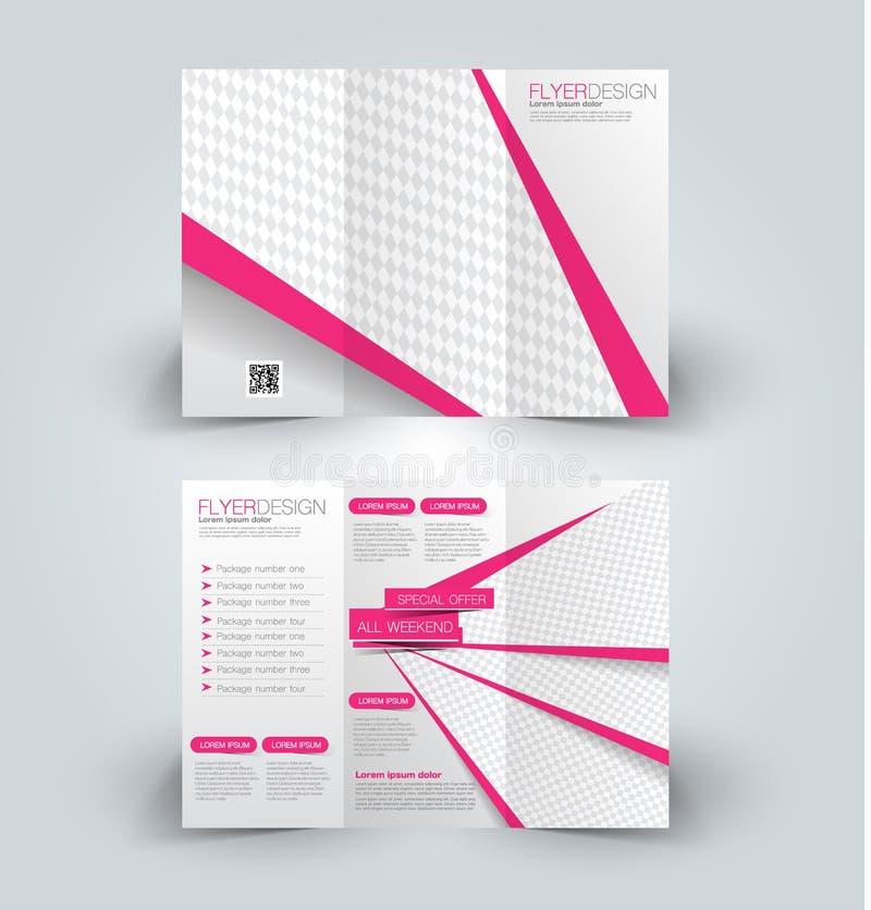 Brochurespot op ontwerpmalplaatje voor zaken, onderwijs, reclame vector illustratie