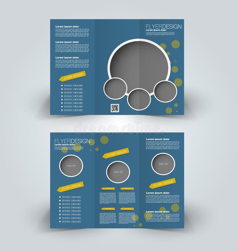 Brochurespot op ontwerpmalplaatje voor zaken, onderwijs, reclame royalty-vrije illustratie