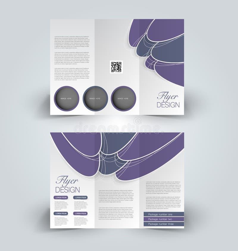 Brochurespot op ontwerpmalplaatje voor zaken, onderwijs, reclame Trifoldboekje royalty-vrije illustratie