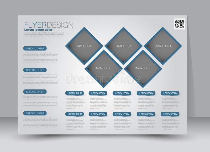 Brochurespot op ontwerpmalplaatje voor zaken, onderwijs, reclame Trifoldboekje stock illustratie
