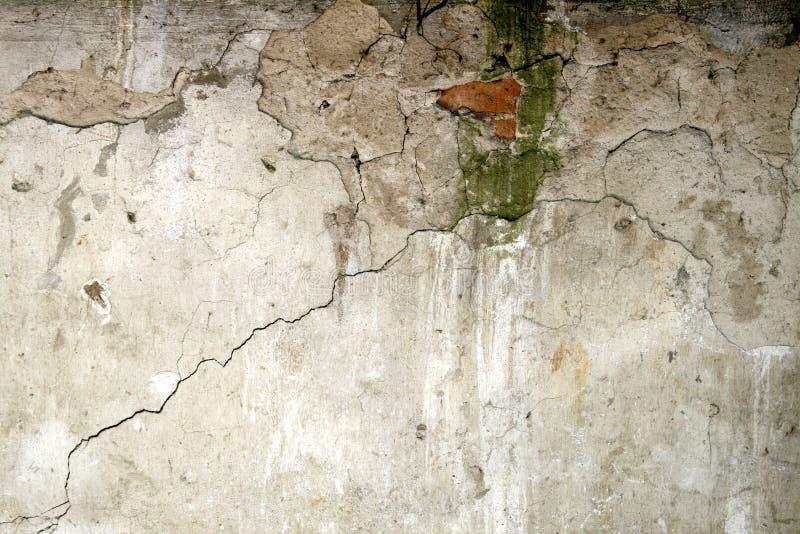 Brocken concrete walll stock photo