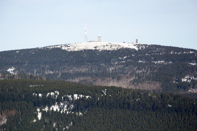 Brocken, Harz, Germany. Radio station at the mountain brocken in the harz royalty free stock images