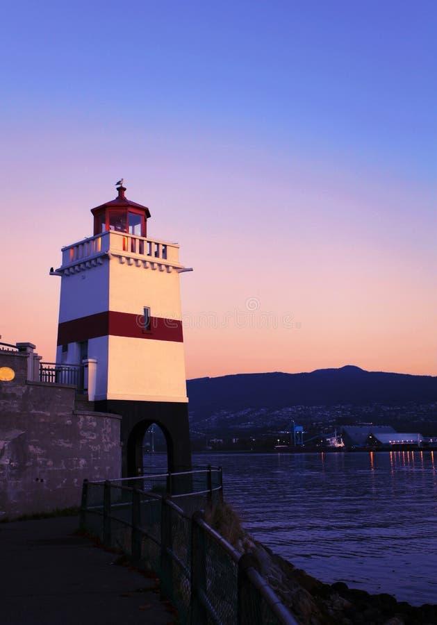 Brockton Point Lighthouse Vancouver stock image