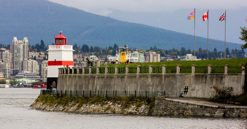 Brockton Point Lighthouse, Vancouver, BC. Brockton Point Lighthouse, located in Vancouver, BC stock photo