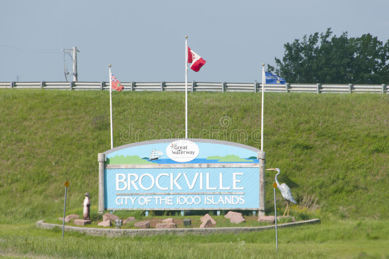 Brockville City Sign - Canada. Brockville City Sign in Canada stock images
