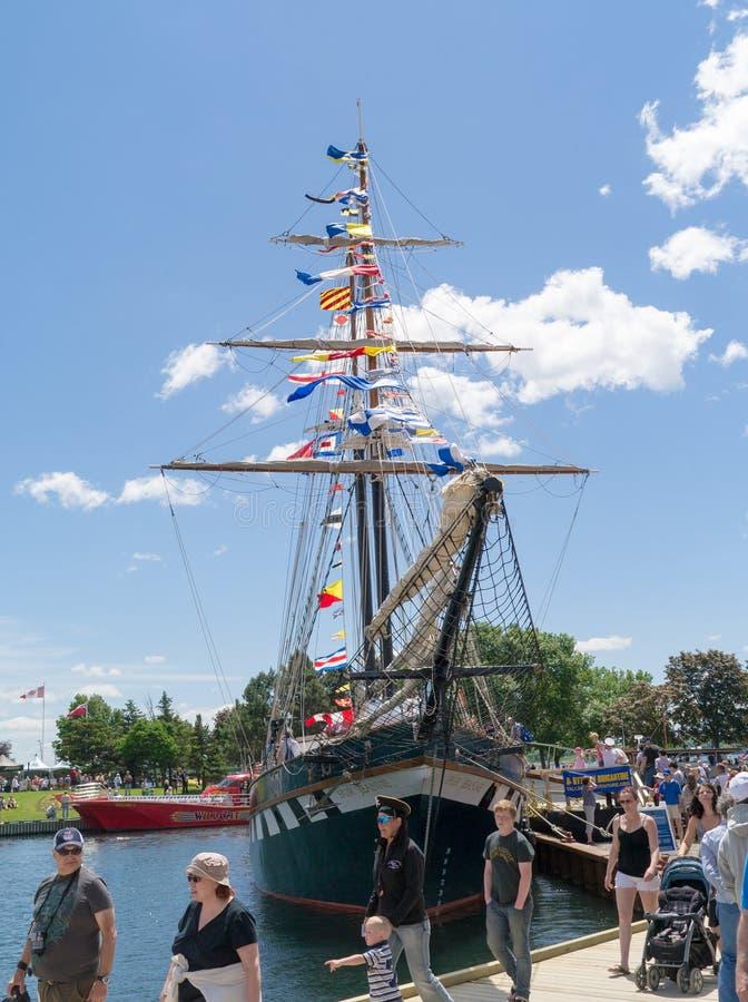 Brockville Tall Ships Festival 10. Brockville, Ontario, Canada - Tall Ships Festival June 16, 2013. The Fair Jeanne stock image